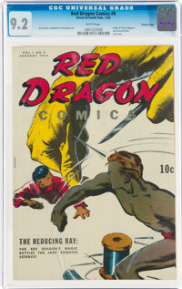 Red Dragon Comics #9 Crowley Copy Pedigree (Street & Smith, 1944) CGC NM- 9.2 White pages