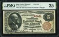 National Bank Notes:Missouri, Saint Louis, MO - $5 1882 Brown Back Fr. 471 The Continental National Bank Ch. # 4048 PMG Very Fine 25.. ...