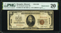 Memphis, MO - $20 1929 Ty. 1 The Scotland County National Bank Ch. # 2432 PMG Very Fine 20