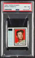 Baseball Cards:Singles (1960-1969), 1962 Topps Stamps Mickey Mantle PSA NM-MT 8....