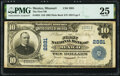 National Bank Notes:Missouri, Mexico, MO - $10 1902 Plain Back Fr. 624 The First National Bank Ch. # 2881 PMG Very Fine 25.. ...