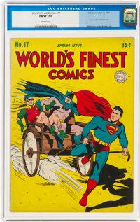 World's Finest Comics #17 (DC, 1945) CGC FN/VF 7.0 Off-white pages
