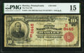 National Bank Notes:Pennsylvania, Hawley, PA - $10 1902 Red Seal Fr. 613 The First National Bank Ch. # (E)6445 PMG Choice Fine 15.. ...