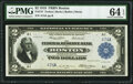 Large Size:Federal Reserve Bank Notes, Fr. 747 $2 1918 Low Serial Number Federal Reserve Bank Note PMG Choice Uncirculated 64 EPQ.. ...