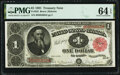Large Size:Treasury Notes, Fr. 352 $1 1891 Treasury Note PMG Choice Uncirculated 64 EPQ.. ...