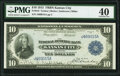 Fr. 816 $10 1915 Federal Reserve Bank Note PMG Extremely Fine 40