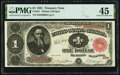 Large Size:Treasury Notes, Fr. 351 $1 1891 Treasury Note PMG Choice Extremely Fine 45.. ...