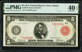 Large Size:Federal Reserve Notes, Fr. 837b $5 1914 Red Seal Federal Reserve Note PMG Extremely Fine 40 EPQ.. ...