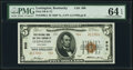 National Bank Notes:Kentucky, Lexington, KY - $5 1929 Ty. 2 First National Bank & Trust Company Ch. # 906 PMG Choice Uncirculated 64 EPQ.. ...