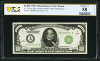 Fr. 2210-A $1,000 1928 Federal Reserve Note. PCGS Banknote Choice AU 58 Details