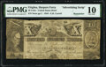 Obsoletes By State:Virginia, Harpers Ferry, VA- Carrell's United States Hotel Advertising Note 10 Units 1844 Remainder PMG Very Good 10.. ...