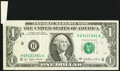 Error Notes:Foldovers, Butterfly Fold Error Fr. 1909-H $1 1977 Federal Reserve Note. Extremely Fine.. ...