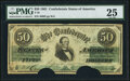 Confederate Notes:1861 Issues, T16 $50 1861 PF-3 Cr. 81 PMG Very Fine 25.. ...