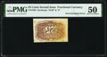 Fr. 1286 Milton 2R25.3h 25¢ Second Issue Inverted Back PMG About Uncirculated 50