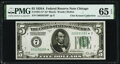 Small Size:Federal Reserve Notes, Fr. 1951-G* $5 1928A Federal Reserve Note. PMG Gem Uncirculated 65 EPQ.. ...