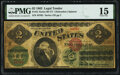 Error Notes:Large Size Errors, Obstructed Printing Error Fr. 41 $2 1862 Legal Tender PMG Choice Fine 15.. ...