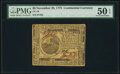 Colonial Notes:Continental Congress Issues, Continental Currency November 29, 1775 $6 PMG About Uncirculated 50 EPQ.. ...