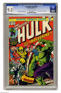 The Incredible Hulk #181 (Marvel, 1974) CGC NM- 9.2 Off-white to white pages. Any fanboy worthy of his mylar could tell...