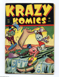 Golden Age (1938-1955):Funny Animal, Krazy Komics #11 (Timely, 1943) Condition: VG+. Overstreet 2004 VG4.0 value = $28....