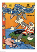 Golden Age (1938-1955):Funny Animal, Looney Tunes and Merrie Melodies Comics #35 (Dell, 1944) Condition:VG+. Overstreet 2004 VG 4.0 value = $44....
