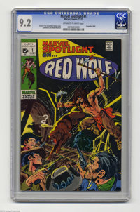 Marvel Spotlight #1 (Marvel, 1971) CGC NM- 9.2 Off-white to white pages. Neal Adams cover. Origin Red Wolf. Overstreet 2...