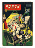 Golden Age (1938-1955):Adventure, Punch Comics #9 (Chesler, 1944) Condition: GD/VG. Rocketman, Rocket Girl, and the Master Key appear. Overstreet 2003 GD 2.0 ...