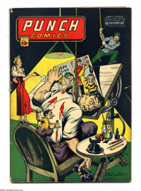 Punch Comics #9 (Chesler, 1944) Condition: GD/VG. Rocketman, Rocket Girl, and the Master Key appear. Overstreet 2003 GD...