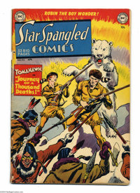 Star Spangled Comics #115 (DC, 1951) Condition: GD/VG. Batman appearance in Robin story. Fred Ray cover. Ray, Curt Swan...