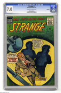 Silver Age (1956-1969):Horror, Strange #1 Bethlehem pedigree (Ajax/Farrell, 1957) CGC FN/VF 7.0Off-white pages. Only one copy of this issue has received a...