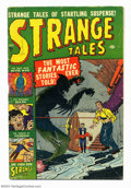 Golden Age (1938-1955):Horror, Strange Tales #3 (Atlas, 1951) Condition: VG. Joe Maneely and MikeSekowsky art. Atom bomb panels. Overstreet 2004 VG 4.0 va...