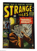 Golden Age (1938-1955):Horror, Strange Tales #14 (Marvel, 1953) Condition: FN+. Wicked cover art.Interior artists include: Joe Maneely, Werner Roth, Georg...