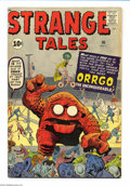 Silver Age (1956-1969):Adventure, Strange Tales #90 (Marvel, 1961) Condition: VG+. Jack Kirby cover. Kirby and Steve Ditko art. Overstreet 2004 VG 4.0 value =...