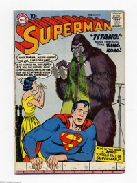Superman #127 (DC, 1959) Condition: VG+. Origin and first appearance of Titano. Curt Swan cover. Swan and Wayne Boring a...