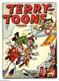 Golden Age (1938-1955):Funny Animal, Terry-Toons Comics #7 (Timely, 1943) Condition: VG. Hitler,Mussolini and Hirohito featured on cover. Overstreet 2003 VG 4.0...