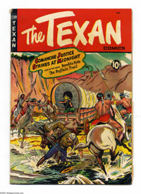 The Texan Group (St. John, 1950). This group contains two copies of issue #7. Features artwork by George Tuska. One is i...