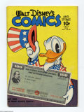 Golden Age (1938-1955):Funny Animal, Walt Disney's Comics and Stories #46 (Dell, 1944) Condition: VG. Carl Barks art. Patriotic cover. Overstreet 2004 VG 4.0 val...