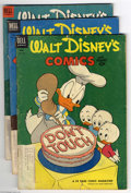 Golden Age (1938-1955):Funny Animal, Walt Disney's Comics and Stories Group (Dell, 1953-57) Condition:Average VG. This group consists of 13 comics: #153-157, 16...(Total: 13 Comic Books Item)