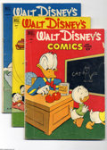 Golden Age (1938-1955):Funny Animal, Walt Disney's Comics and Stories Group (Dell, 1952-53) Condition:Average VG. Includes issues #139, 140 (first Gyro Gearloos...(Total: 5 Comic Books Item)