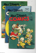 Golden Age (1938-1955):Funny Animal, Walt Disney's Comics and Stories Group (Dell, 1946-50) Condition:Average GD. Includes issues #64, 65, 67-70, 75, 103, 108, ...(Total: 14 Comic Books Item)