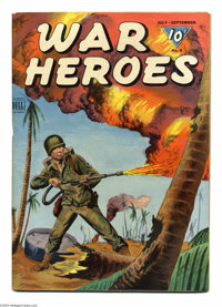 War Heroes #9 Big Apple pedigree (Dell, 1944) Condition: FN-. Overstreet 2004 FN 6.0 value = $30