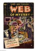 Golden Age (1938-1955):Horror, Web of Mystery #1 (Ace, 1951) Condition: VG-. Mike Sekowsky art.Browning paper, water spots. Overstreet 2004 VG 4.0 value =...