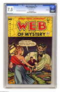 Golden Age (1938-1955):Horror, Web of Mystery #11 Bethlehem pedigree (Ace, 1952) CGC VF- 7.5Off-white pages. Mike Sekowsky and Lou Cameron art. Only one c...