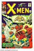 Silver Age (1956-1969):Superhero, X-Men #15 (Marvel, 1965) Condition: VF-. Origin of the Beast. Art (layouts) by Jack Kirby. Overstreet 2004 VF 8.0 value = $2...