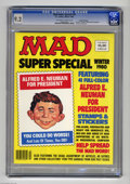 """Magazines:Mad, Mad Super Special #33 Gaines File pedigree (EC, 1980) CGC NM- 9.2 Off-white to white pages. Includes """"Alfred E. Neuman for P..."""