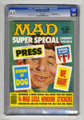 Magazines:Mad, Mad Super Special #35 Gaines File pedigree (EC, 1981) CGC VF+ 8.5White pages. Includes Mad window stickers. Sergio Aragones...