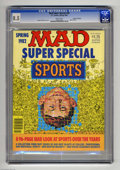 Magazines:Mad, Mad Super Special #38 Gaines File pedigree (EC, 1982) CGC VF+ 8.5White pages. Sports issue. Sergio Aragones cover. Overstre...