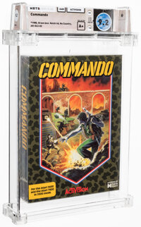 Commando - Wata 9.2 A+ Sealed [1985 Green box], 2600 Activision 1988 USA