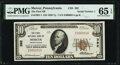 National Bank Notes:Pennsylvania, Mercer, PA - $10 1929 Ty. 1 The First National Bank Ch. # 392 PMG Gem Uncirculated 65 EPQ.. ...
