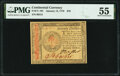 Colonial Notes:Continental Congress Issues, Continental Currency January 14, 1779 $70 PMG About Uncirculated 55.. ...