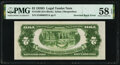 Inverted Back Error Fr. 1505 $2 1928D Legal Tender Note. PMG Choice About Unc 58 EPQ